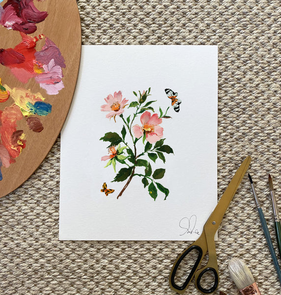 Botanical Print: French Rose