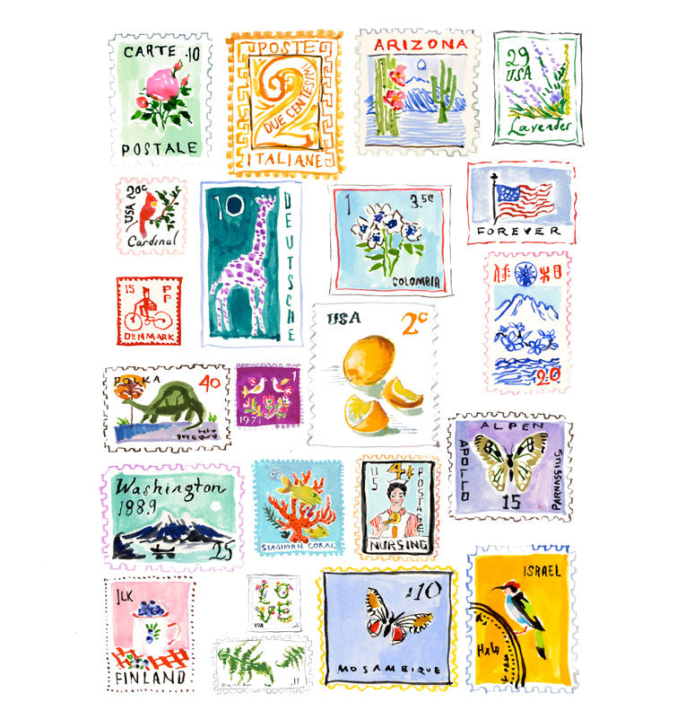 Stamp Collection Print