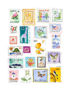 Stamp Collection Print for Ally