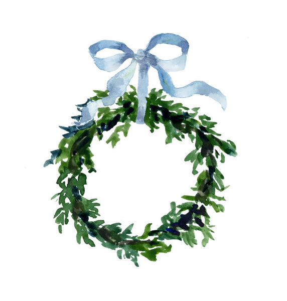 Tiny Winter Wreath Print