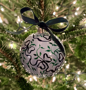 2019 Ornament: The Other Vine and Bow on Blue One