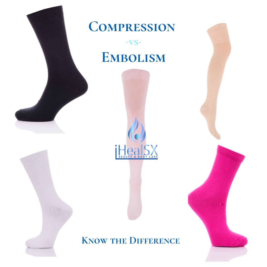 Compression -vs-  Embolism Socks, Know the Difference for Post Op Recovery