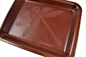 Molded Leather Dragonfly Valet Tray