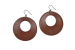 Load image into Gallery viewer, Leather Eclipse Earrings