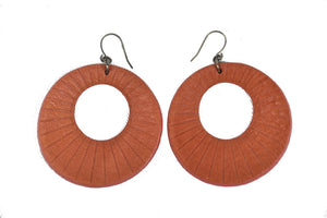 Leather Eclipse Earrings
