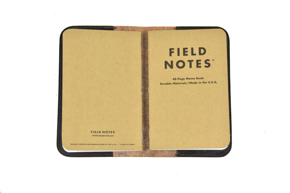 Leather Field Notes Cover - Dark Brown