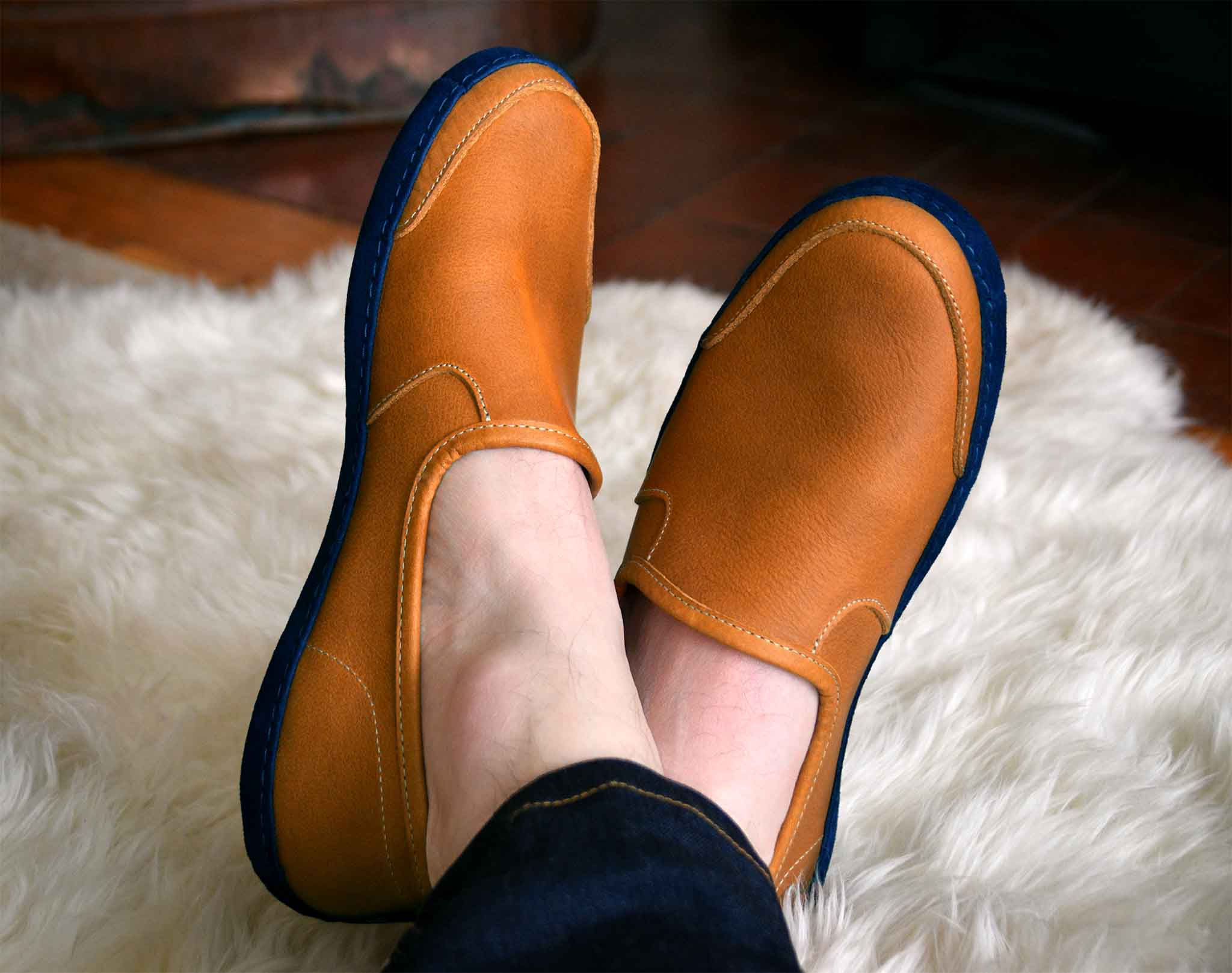 Vermont House Shoes: Loafer - Tan