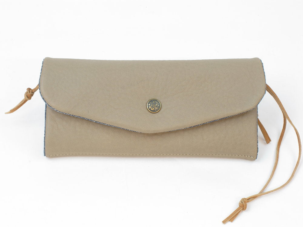 Women's Leather Trifold Clutch Wallet