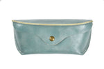 Load image into Gallery viewer, Leather Sunglasses Case in Robin's Egg Blue
