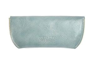 Leather Sunglasses Case in Robin's Egg Blue