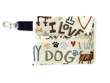 Load image into Gallery viewer, Love My Dog Face Mask with (optional) Clean & Carry Pouch