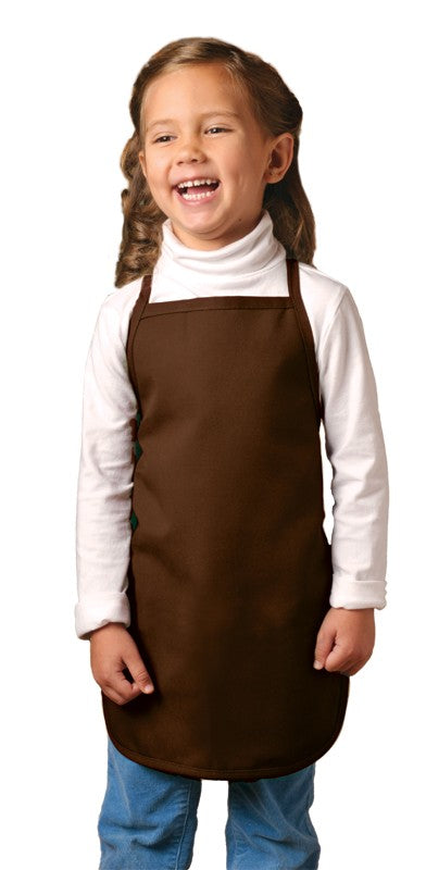 "I250NP No Pocket Bib Apron For Children Non-Adj Neck 20"" x 15"" Made In The USA -ITS Global Supply"