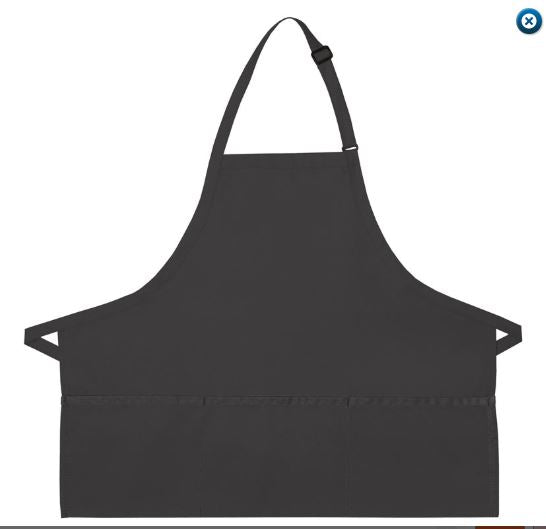 "I200 Three Pocket Bib Apron 24""X ""28 Made In The USA -ITS Global Supply"