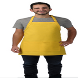 "I212 Bib Apron w/ Center Divided Pocket REG: 28""L x 24""W Made In The USA -ITS Global Supply"