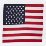 "IB5200 Blank 100% Micro Polyester USA Flag Bandanna 22"" X 22"" -ITS Global Supply"