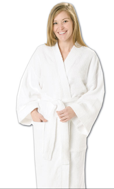 "IBR80 Blank100% cotton, 48"" one size kimono, medium weight, 11oz. (360 Gsm) -ITS Global Supply"