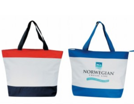 INBS134 Poly Tote Bag with Zipper -ITS Global Supply