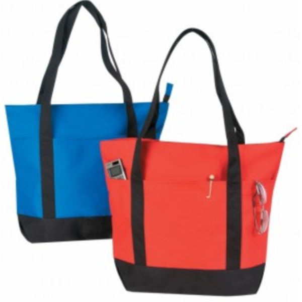 INBS182 Poly Zippered Tote Bag -ITS Global Supply