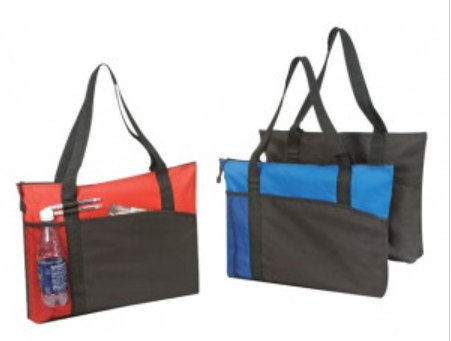 INBS214 Poly Tote Bag with Zipper -ITS Global Supply