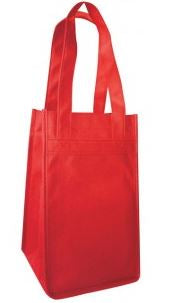 INBS230-Non Woven 4 Bottles Wine Bag -ITS Global Supply