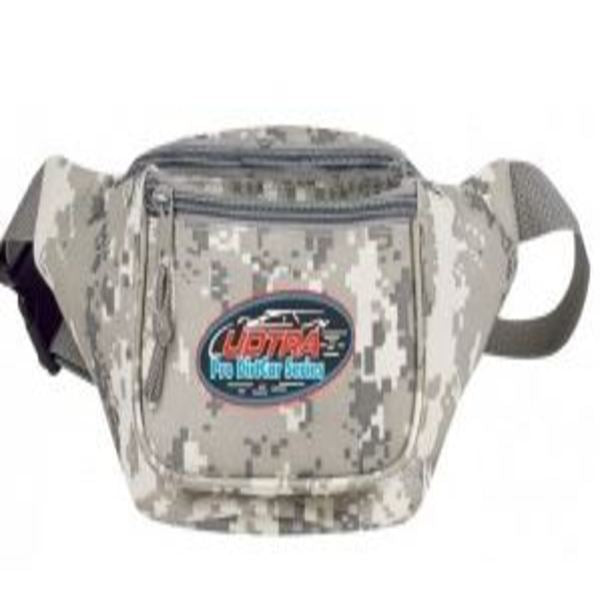 INDM1015-Digital Camo Poly Three Zipper Fanny Pack -ITS Global Supply
