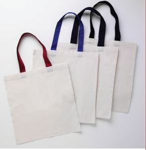 IQTB6000-100% Cotton Sheeting. Natural color body, with color handles. Self-fabric handle -ITS Global Supply