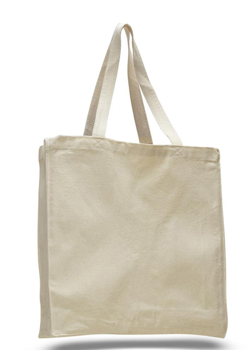IQ125300 Heavy Canvas Shopper Full side and bottom gusset Web handle -ITS Global Supply