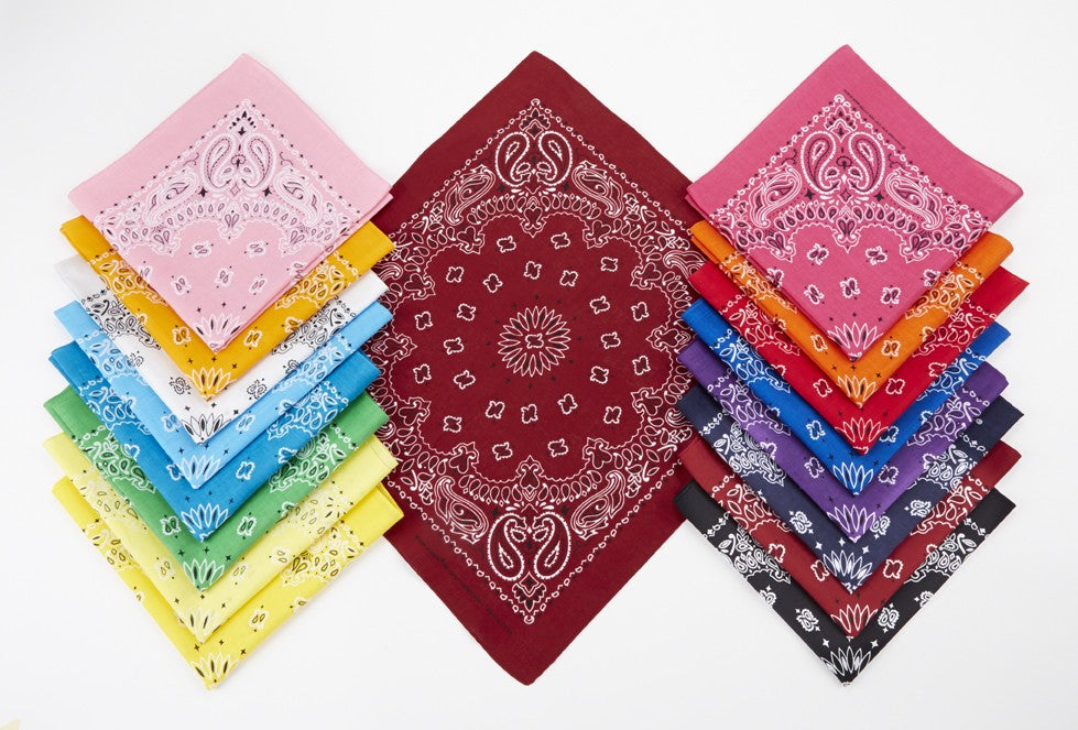 "IB4300 Blank Classic Paisley Design Style Premium Bandanna 22"" x 22"" -ITS Global Supply"