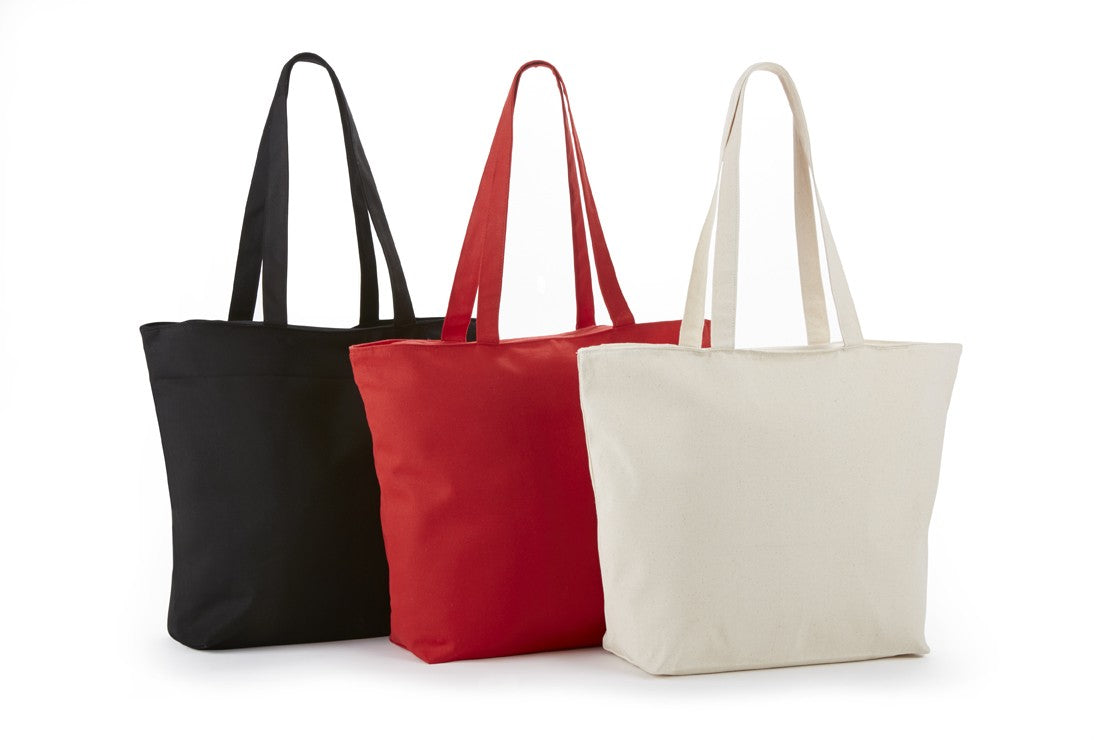 ITB6120 Cotton Canvas Top Zippered Closure Bag -ITS Global Supply