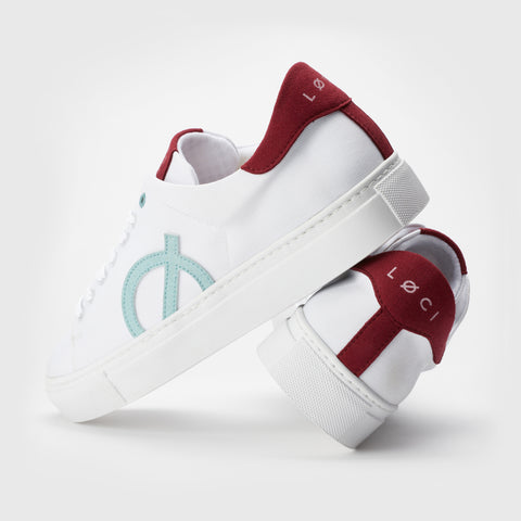 LOCI white Sneakers with accent