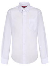 Load image into Gallery viewer, Boys Long Sleeve White Shirt - 2 in a PACK (NON-IRON)
