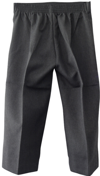 Kids Pull Up Trousers (Grey/Black)