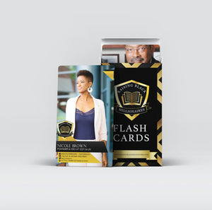Use the RBM Flashcards to introduce your child to a new Black Millionaire or Billionaire every week of the year with our 52-card deck volumes of flashcards.