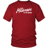 Millionaire-in-the-Making Canvas Unisex 3/4 Raglan WHITE LETTERS