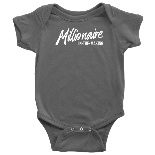 Millionaire-in-the-Making Onesie (Baby Bodysuit) WHITE LETTERS