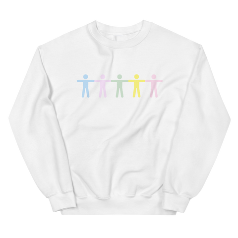 GRADIENT BODY WHITE CREWNECK