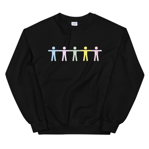 GRADIENT BODY BLACK CREWNECK