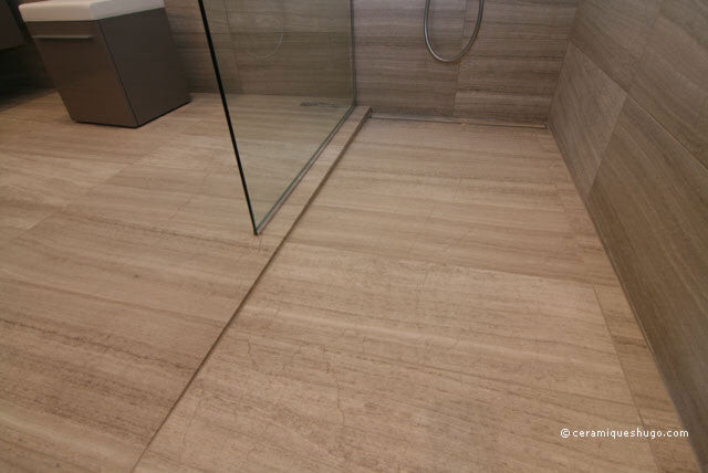 linear drain with slope floor