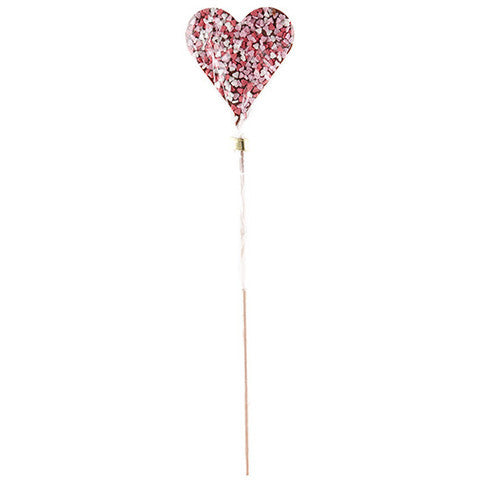 belgian milk chocolate swinkle heart pop with pink hearts