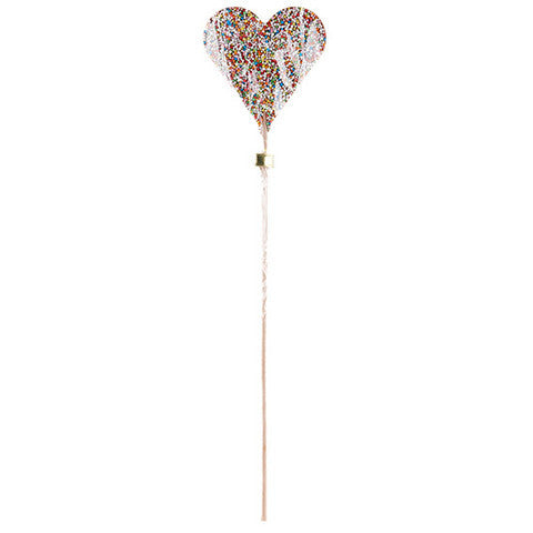 belgian milk chocolate swinkle heart pop with rainbow sprinkles