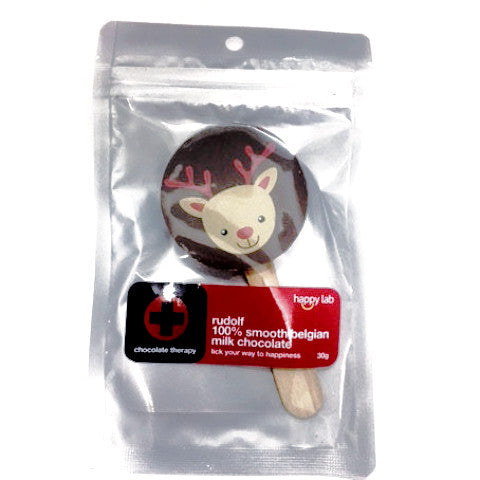 rudolf print pop in milk chocolate