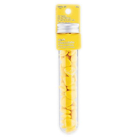 yellow dark chocolate love meetoos test tube