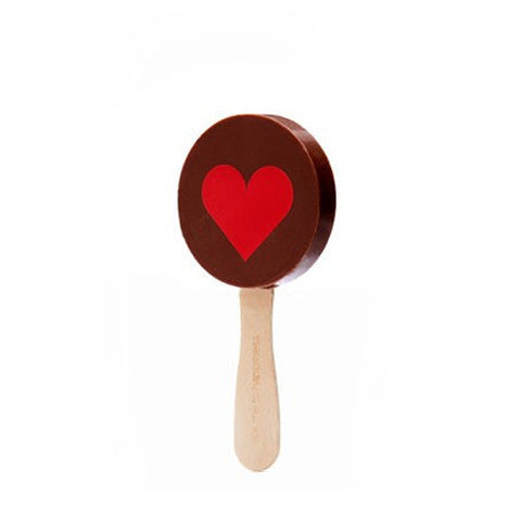 heart print pop in milk chocolate
