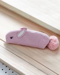 Spring bunny pencil case - pink