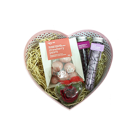 #lovechocolate gift set (M) - rose in heart case