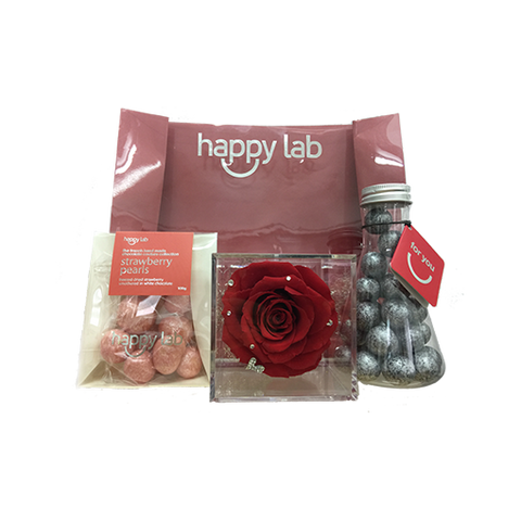 diamond rose gift set