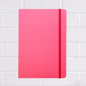 A5 hot pink snap notebook