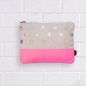 Gold spots pencil case