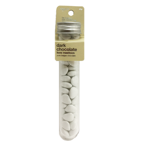 White dark chocolate love meetoos test tube