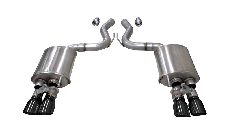 SPORT VARIABLE SOUND (21002) 3.0 IN VALVED AXLE-BACK TWIN 4.0 IN TIPS 2018-2020 MUSTANG GT COUPE